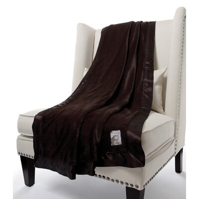 Luxe Solid Faux Fur Fabric Throw by Little Giraffe