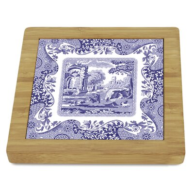 Blue Italian Bamboo Trivet by Pimpernel