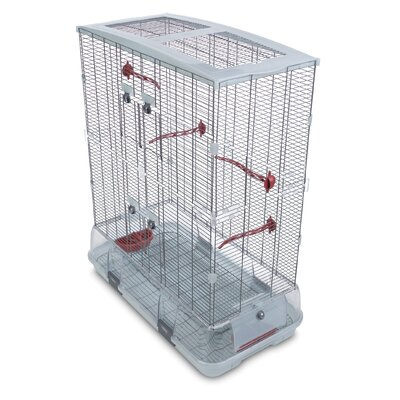 Double Medium Vision Bird Cage with Small Wire by Hagen