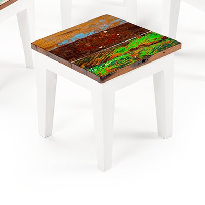 Rock-a-Bye Reclaimed Wood Side Table by EcoChic Lifestyles