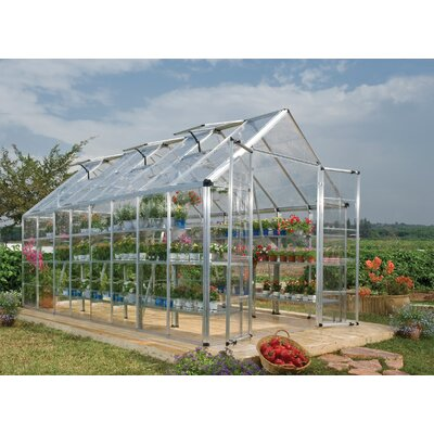 Snap and Grow 8 Ft. W x 16 Ft. D Polycarbonate Greenhouse by Palram