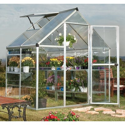 Hybrid 6 Ft. W x 4.5 Ft. D Polycarbonate Greenhouse by Palram