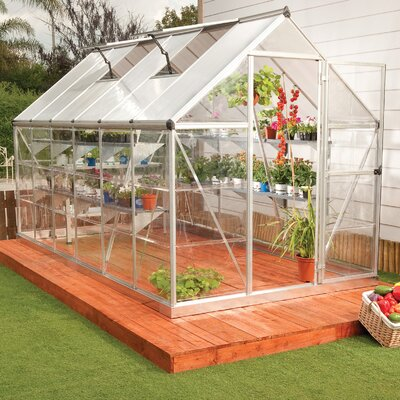 Hybrid 6 Ft. W x 14 Ft. D Cold Frame Greenhouse by Palram