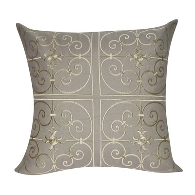Floral Embroidered Decorative Throw Pillow by Loom and Mill