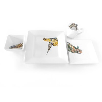 Majestic Turtle 4 Piece Place Setting by Kim Rody Creations