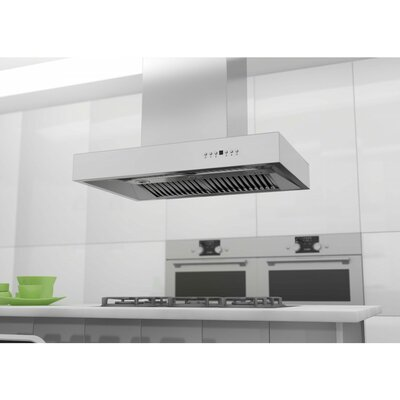 "48"" 1200 CFM Island Range Hood in Brushed Product Photo"