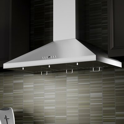 "48"" 760 CFM Wall Mount Range Hood in Stainless Steel Product Photo"
