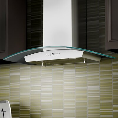 "36"" 760 CFM Wall Mount Range Hood in Stainless Steel Product Photo"