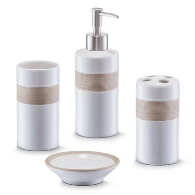 Ceramic Bathroom Accessory Set Wayfair UK