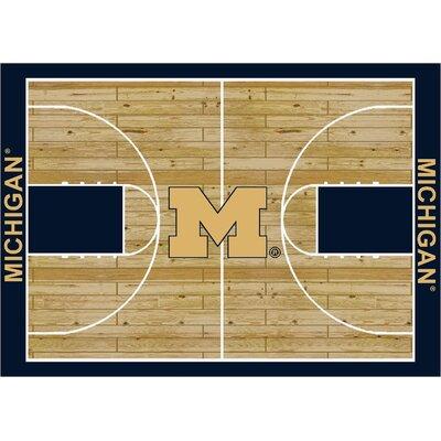 College Court Michigan Wolverines Rug by Milliken