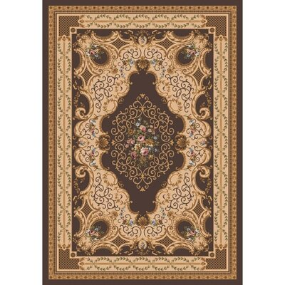 Milliken Pastiche Kashmiran Valette Leather Brown Area Rug