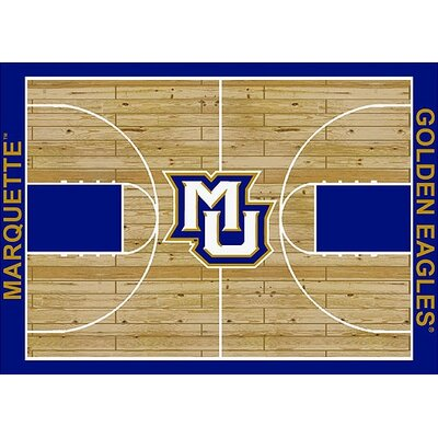 College Court NCAA Marquette Novelty Rug by Milliken