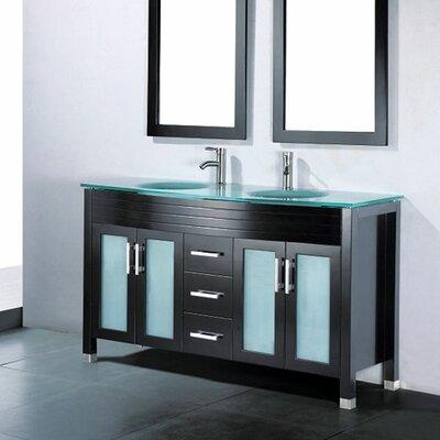 """Adora 59"""" Double Bathroom Vanity Set with Mirror Product Photo"""