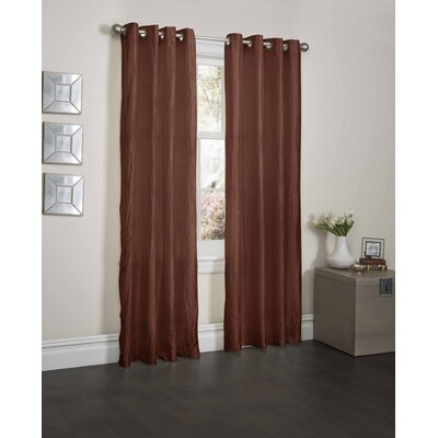 Sherry Crushed Satin Curtain Panel with 8 Pieces Gromment Top Product Photo