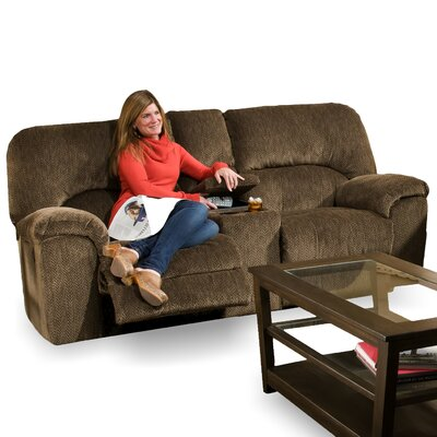 Cosmo Reclining Loveseat with Console by Brady Furniture Industries