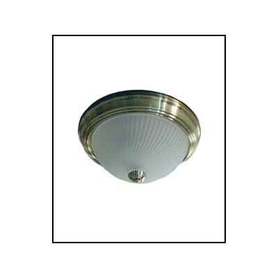 Light Swirls Swirl 2 Light Flush Mount by