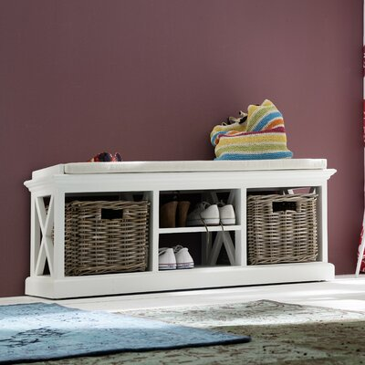 Halifax Storage Bench with Baskets by NovaSolo
