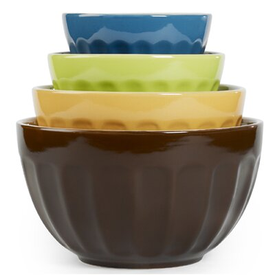 4 Piece Cafe Multi Mixing Bowl Set by Tabletops Gallery