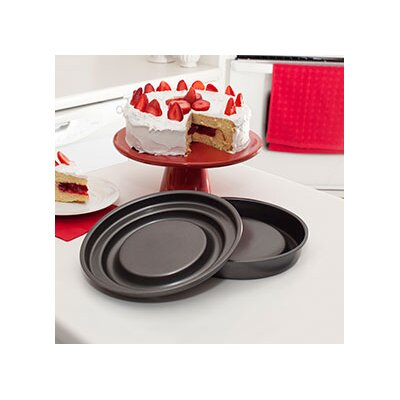 Bakeware Innovations 2 Piece Round Fill N Flip and Slice N Easy Set by Mrs. ...