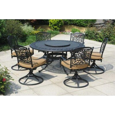Vining 7 Piece Dining Set with Cushions by Sunjoy