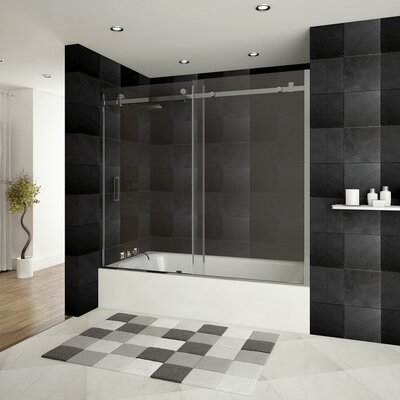 "Ultra-B 62"" x 60"" Sliding Glass Bath Tub Door Product Photo"