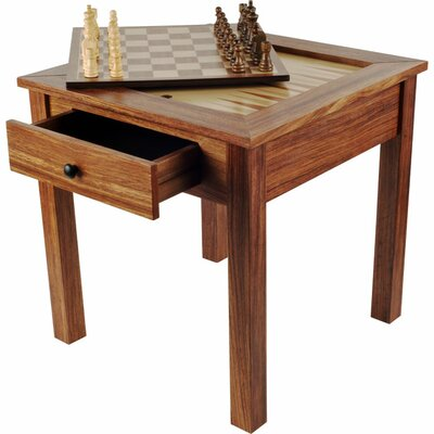 Trademark Games Chess & Games Wood 3 in 1 Multi Game Table