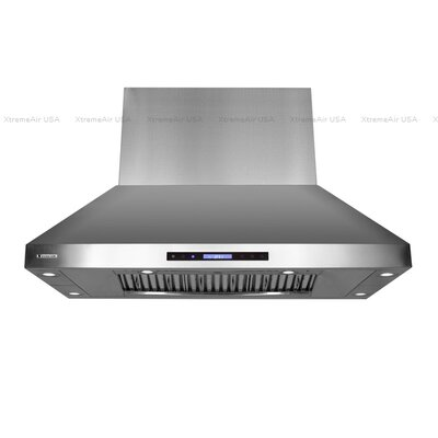 "Pro-X 48"" 1600 CFM Island Range Hood in Stainless Steel Product Photo"