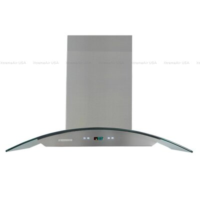 "Pro-X 42"" 900 CFM Island Range Hood in Stainless Steel Product Photo"