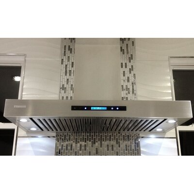 "Pro-X 42"" 900 CFM Wall Mount Range Hood in Brushed Product Photo"