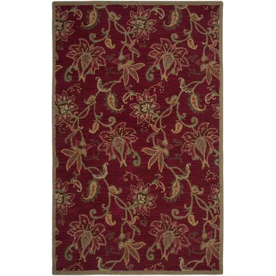 Rizzy Rugs Ashlyn Red Floral Area Rug