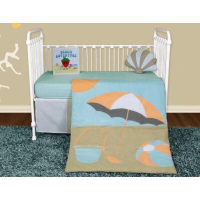 Sun and Sand 5 Piece Crib Bedding Set with Storybook by Snuggleberry Baby