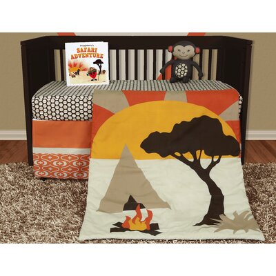 African Dream 5 Piece Crib Bedding Set with Storybook by Snuggleberry Baby