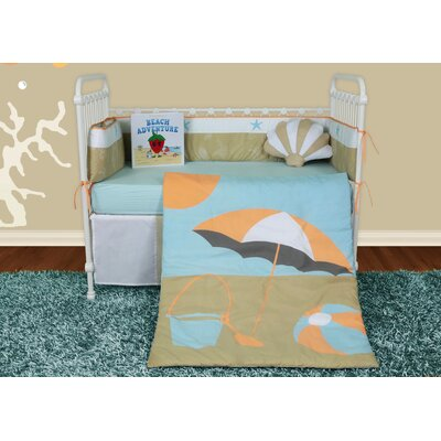 Sun and Sand 6 Piece Crib Bedding Set with Storybook by Snuggleberry Baby
