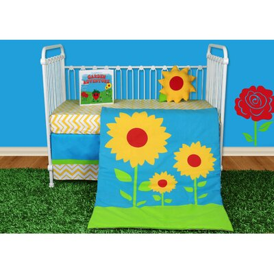 Sunflower Love 5 Piece Crib Bedding Set with Storybook by Snuggleberry Baby