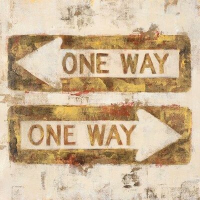 One Way by Michael Longo Painting Print on Wrapped Canvas by Portfolio Canvas
