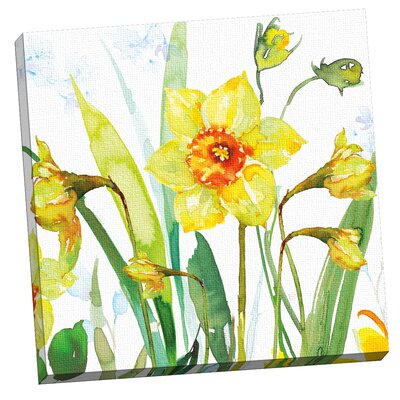 Daffodils by Harrison Ripley Painting Print on Wrapped Canvas by Portfolio Canvas