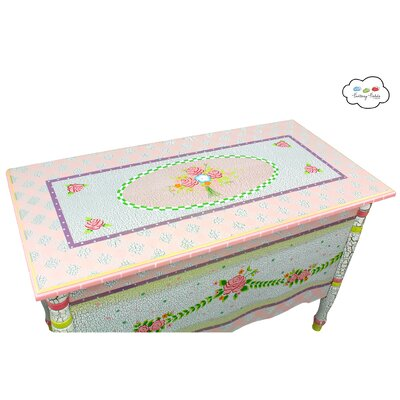 Fantasy Fields Crackled Rose Toy Chest