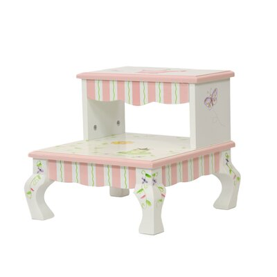 Princess and Frog 2-Step MDF Step Stool with 200 lb. Load Capacity by Fantasy Fields ...