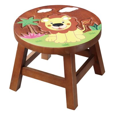 - Safari Lion Wooden Stool by Fantasy Fields