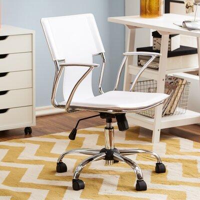 Ergonomic White Office Chair by Zipcode Design