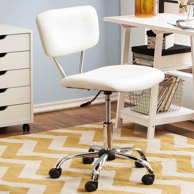 Adjustable Mid-Back Sleek White Office Chair by Zipcode Design