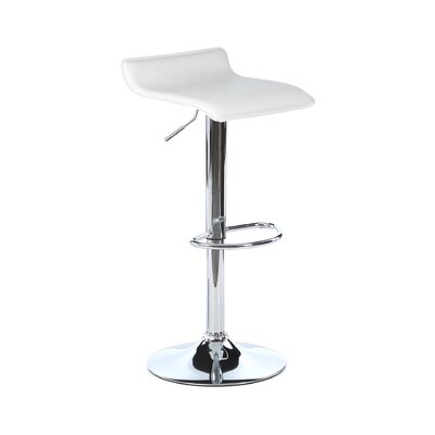 Emma Adjustable Height Bar Stool with Cushion by Zipcode Design