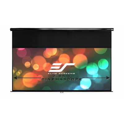 Elite Screens Elite Screens Manual, 100-inch 16:9, Pull Down Projection Manual Projector Screen with Auto Lock