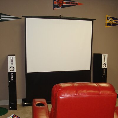 "Elite Screens ezCinema Plus Series 60"" Diagonal Portable Floor Pull Up Projection Screen"