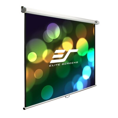 Elite Screens Elite Screens Manual B Series, 100-inch 1:1, Overhead Pull Down Projection Manual Projector Screen with Auto Lock, M100S