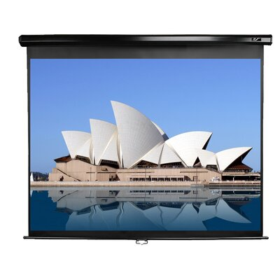 Elite Screens Elite Screens Manual, 120-inch 16:9, Pull Down Projection Manual Projector Screen with Auto Lock, M120UWH