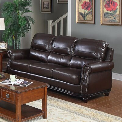 Swain Bonded Leather Sofa by Flair