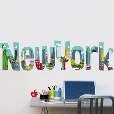 NY Comic Decorative Wall Decal by Retrospect Group