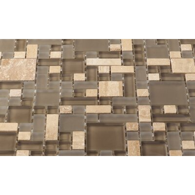 Enigma Random Sized Metal, Glass and Marble Mosaic Tile in Antique Earth by Martini Mosaic ...