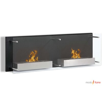 Faro Wall Mounted Ethanol Fuel Fireplace by Moda Flame